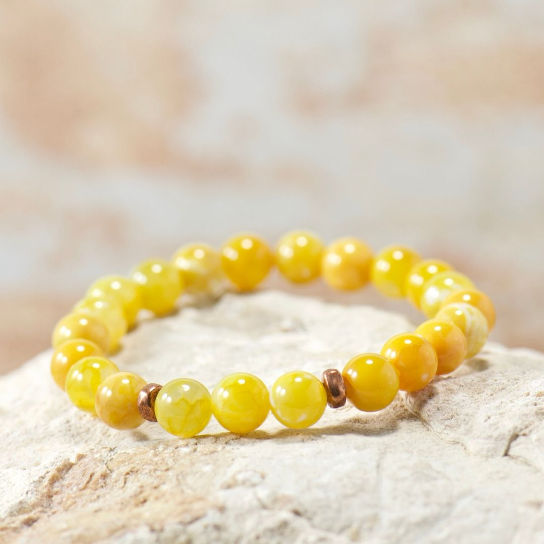 Simple Intentions Inspiring | Saffron Agate Bracelet