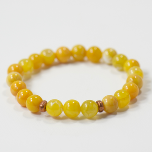 Simple Intentions Inspiring | Saffron Agate Gemstone Bracelet
