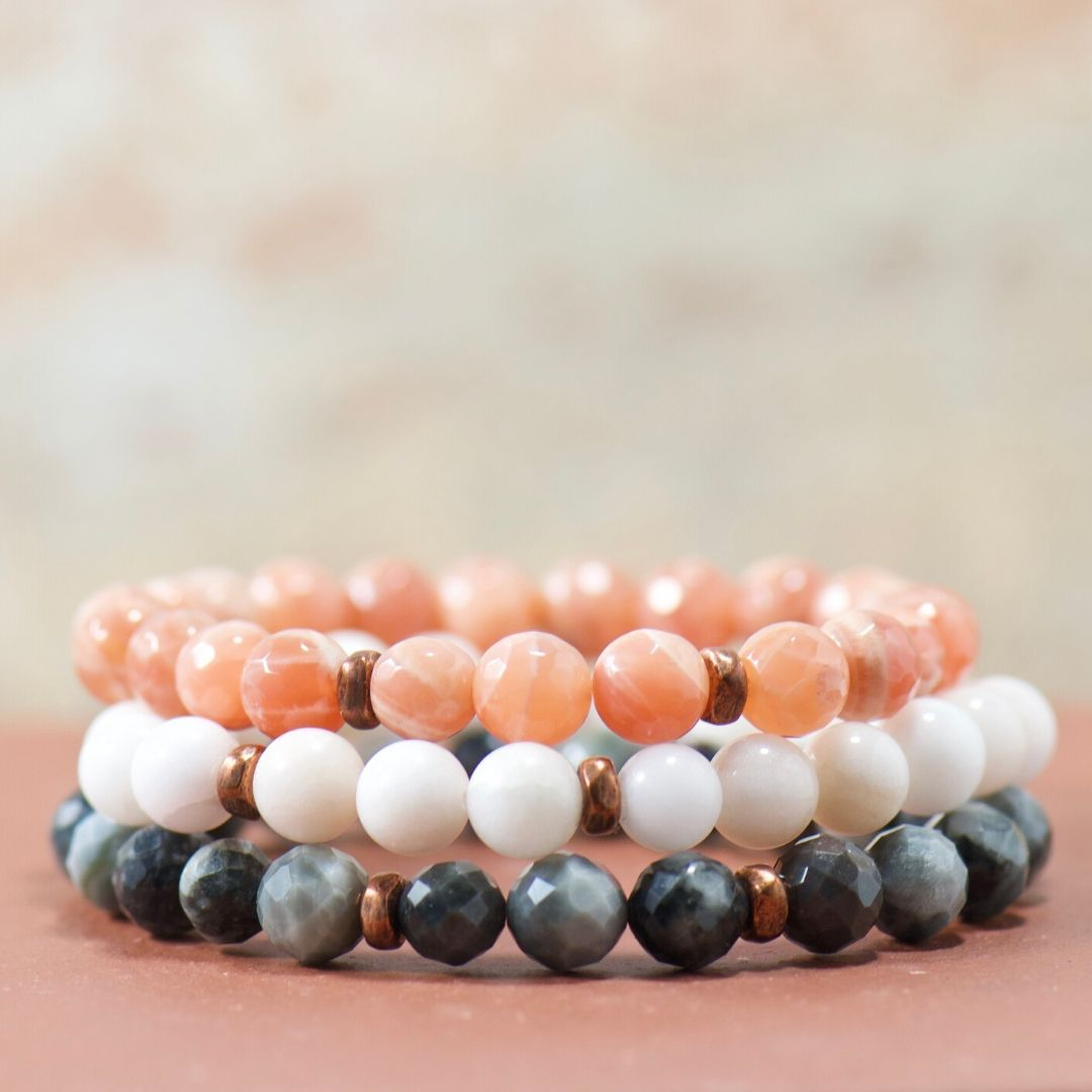 gemstone bracelet stack | meaningful jewelry gifts for her