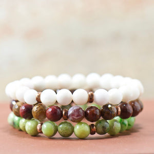gemstone bracelet stack | boho jewelry gifts for her