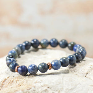 Simple Intentions Focus | Sunset Dumortierite Gemstone Bracelet