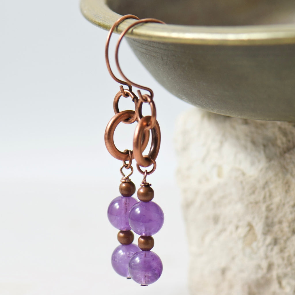 Tabitha Purple Amethyst Earrings