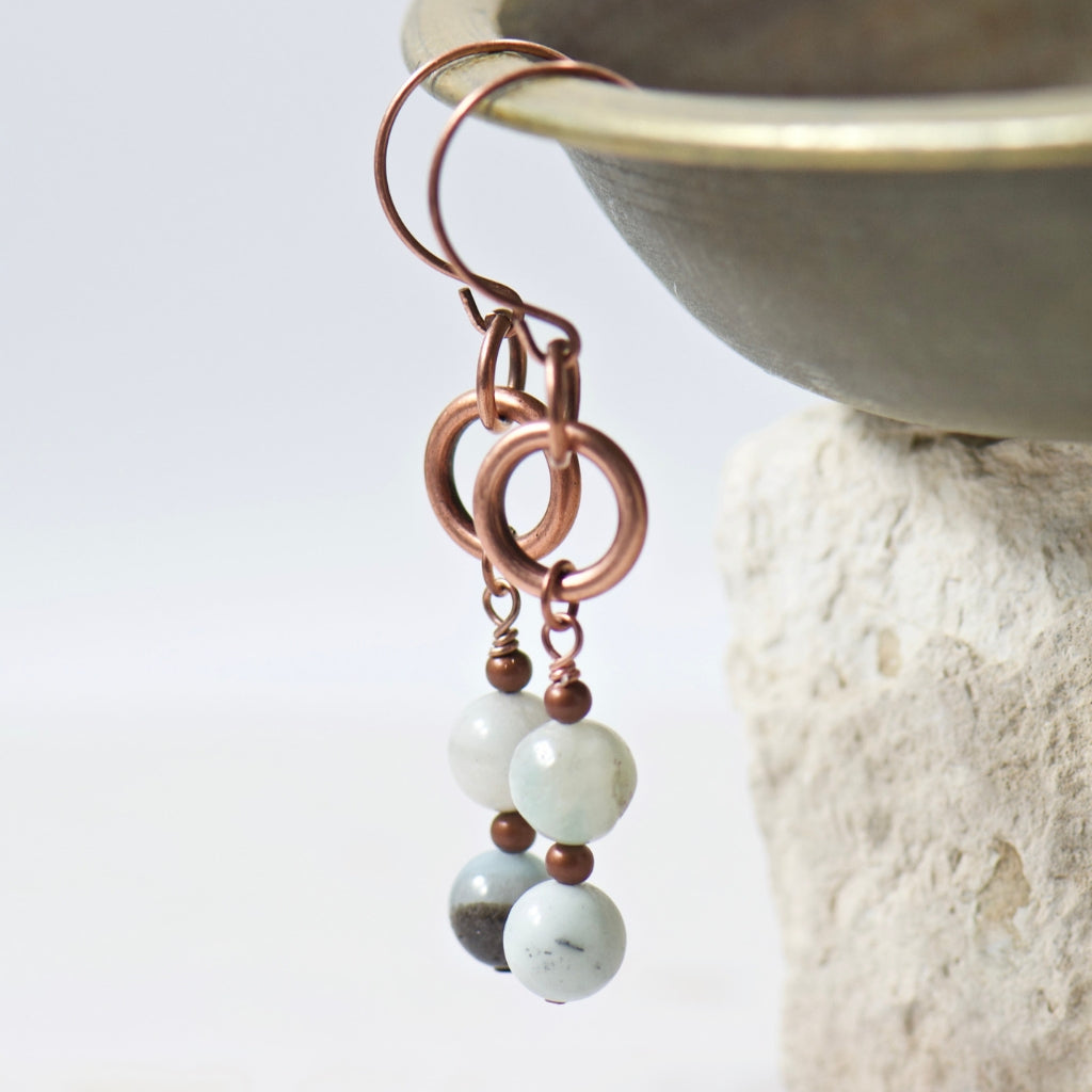 Tabitha Amazonite Earrings