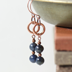 Tabitha Dumortierite Earrings