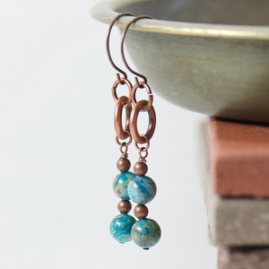 Tabitha Blue Agate Earrings