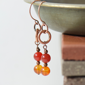 Tabitha Carnelian Earrings