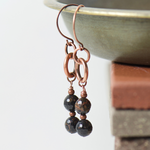 Tabitha Obsidian Earrings