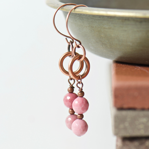 Tabitha Rhodonite Earrings