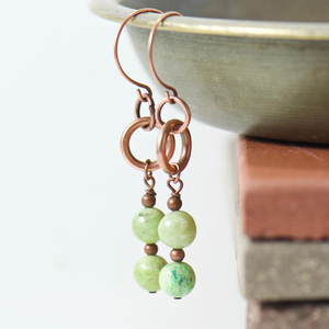Tabitha Olivine Earrings