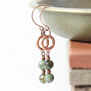 Tabitha African Turquoise Earrings