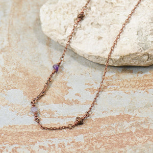 Grace Amethyst Twig Bohemian Necklace