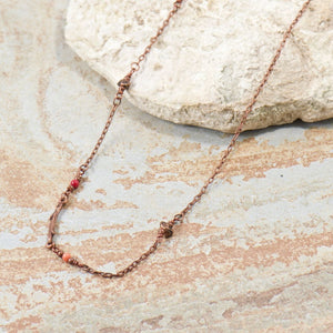 Grace Carnelian Twig Necklace