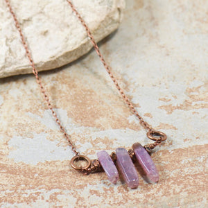 Wildflowers Amethyst Necklace