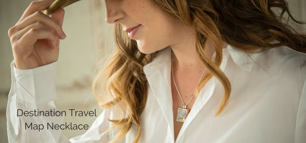 Travel Map Jewelry - Gifts for Her