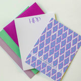 Ikat Monogram Personalized Note Card