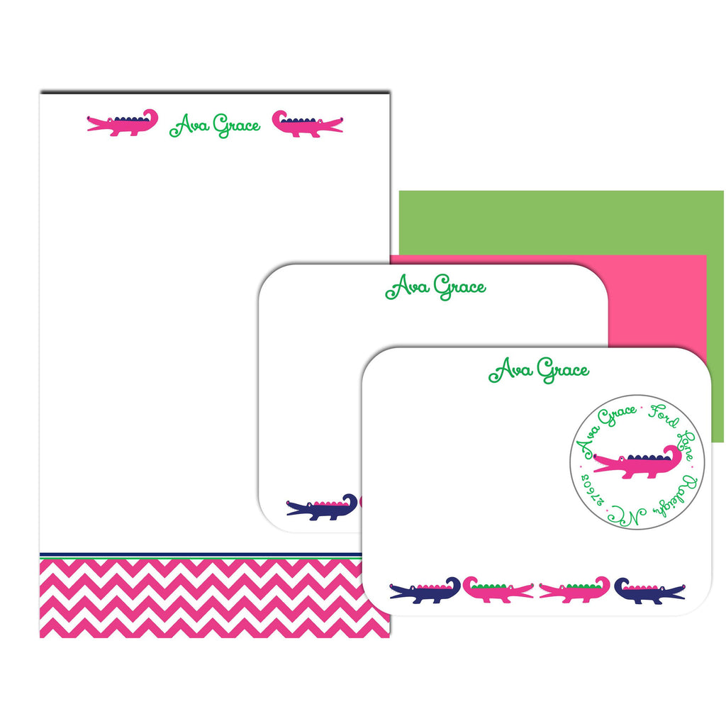 aligator note pads, thoughtfilled gift sets