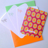Multi Colored Ikat Personalized Note Card