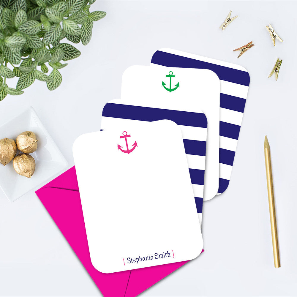 Nautical Anchor Personalized Note Card
