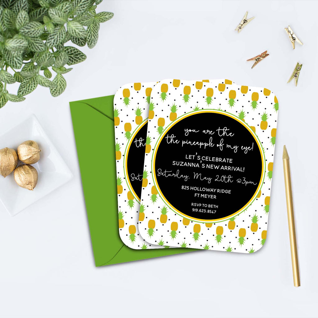 Pineapple Gender Neutral Baby Shower Invitations | thoughtfilled