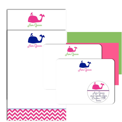 Whale Personalized Stationery Gift