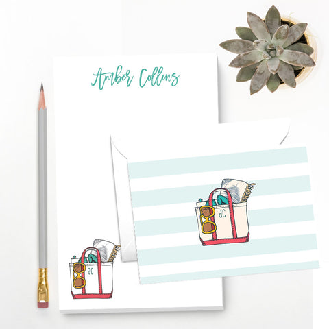 Beach Lover Personalized Stationery