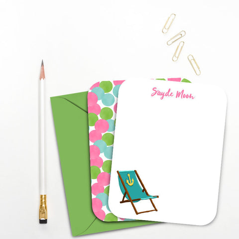 beach chair note pads