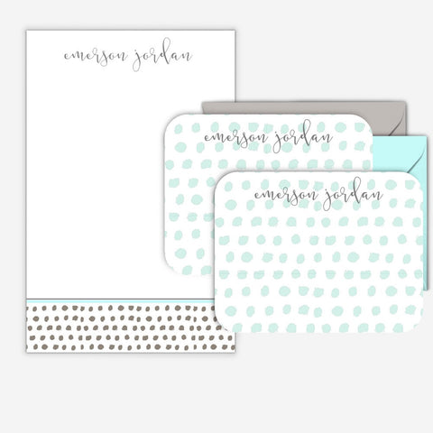 Minky Dot Notepad / Notecard Set