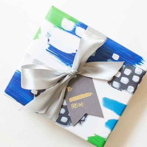 Blue/Green Abstract Gift Wrap