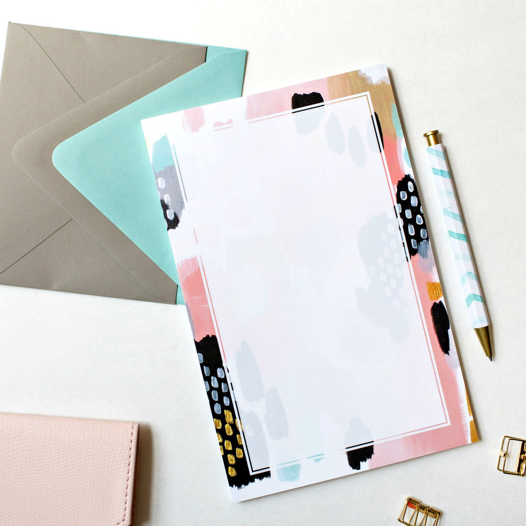 Blush & Mint Abstract Notepad