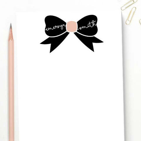 bow girls personalized stationery