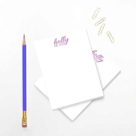 Modern Personalized Notepad