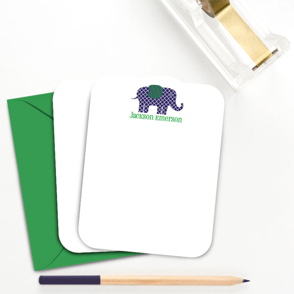 Little One Animal Thank You Personalized Note Card