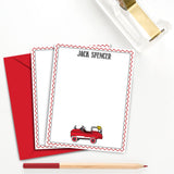 Boys Firetruck Birthday Party Invitation