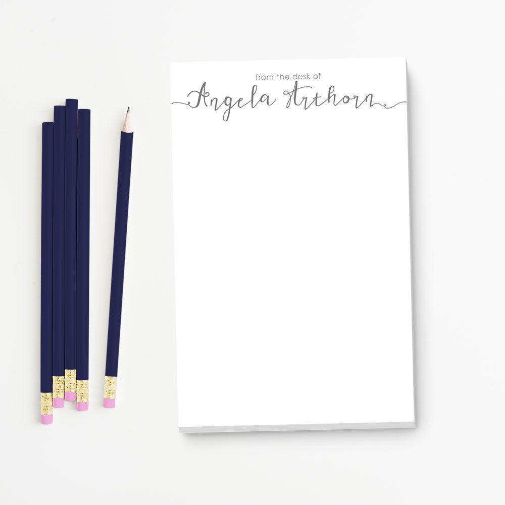 notepad gift set, from the desk of