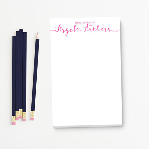 Calligraphy From the Desk of Personalized Notepad