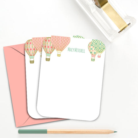 Hot Air Balloon Personalized Note Card