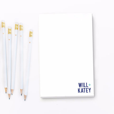 Couples Personalized Engagement Notepad