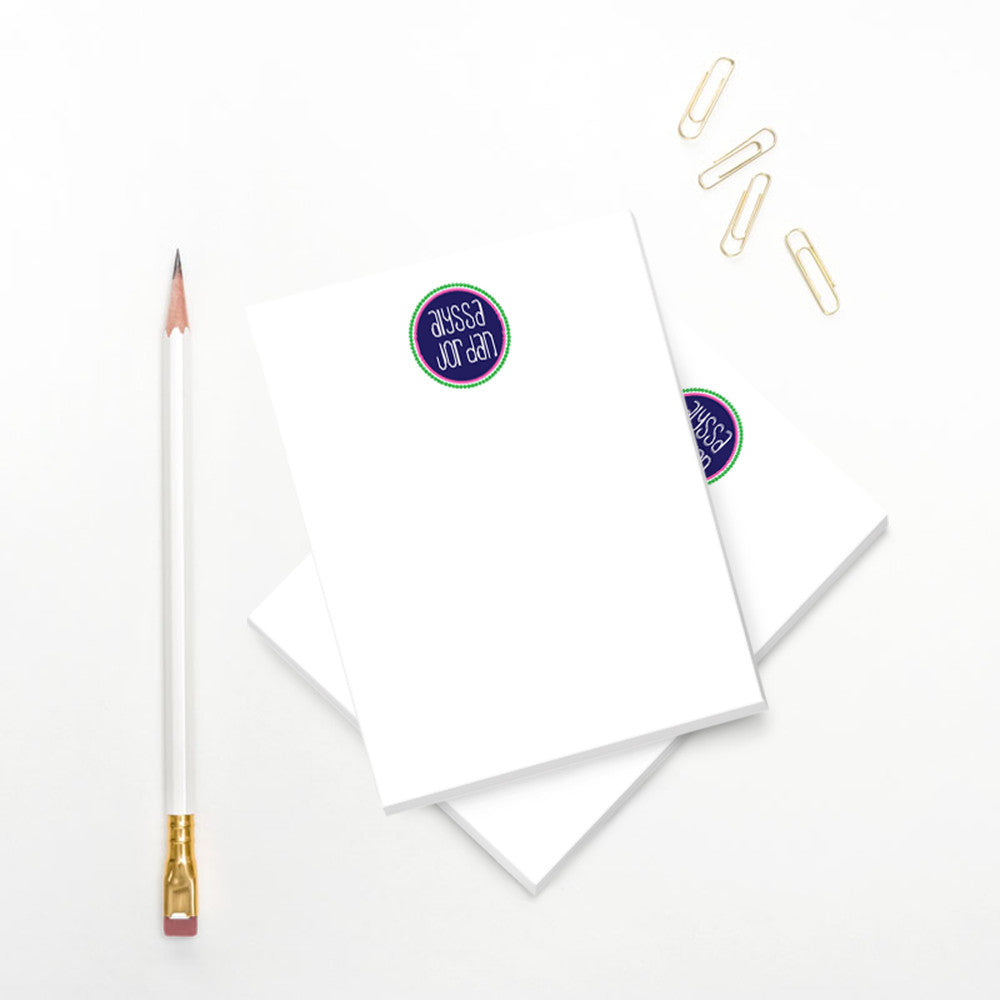 Modern Preppy Notepad