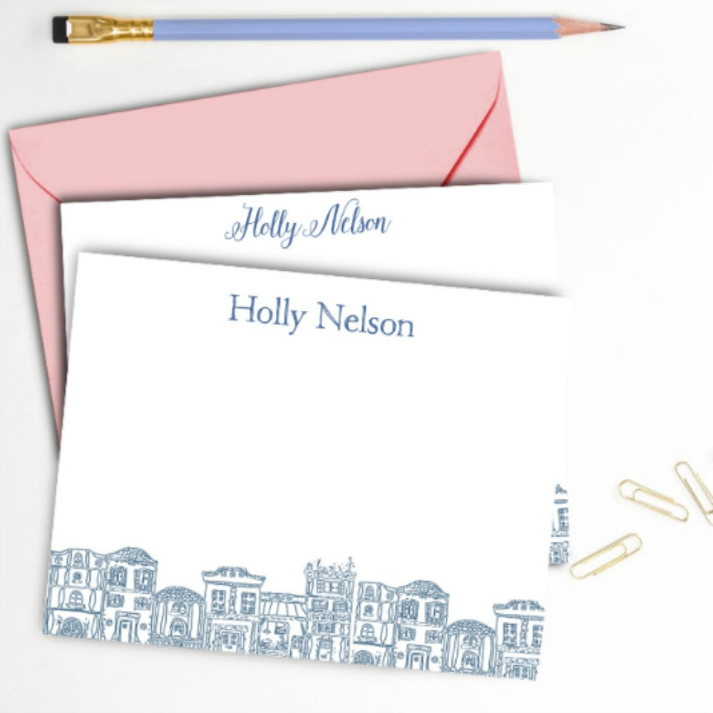 Rowhouse Personalized Note Card