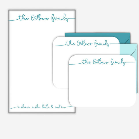 Custom Family Notepad Set