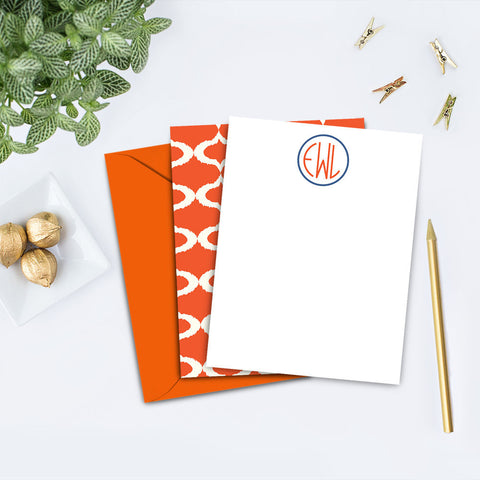 Contemporary Personalized Note Card