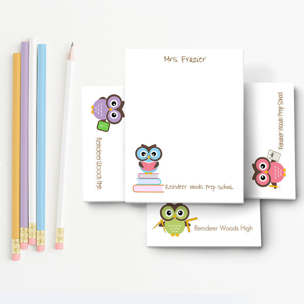 Owl Personalized Notepad