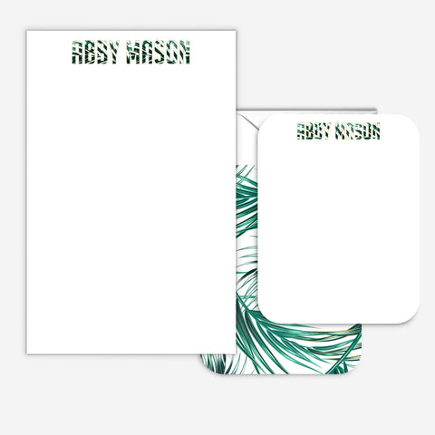 Personalized Palm Notepad Set