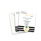 Gender Neutral Pineapple Baby Shower Invitation
