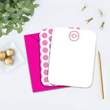 Preppy Blossom Monogram Personalized Note Card
