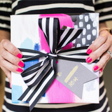 Hot Pink Abstract Gift Wrap