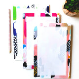 Hot Pink Abstract Notepad