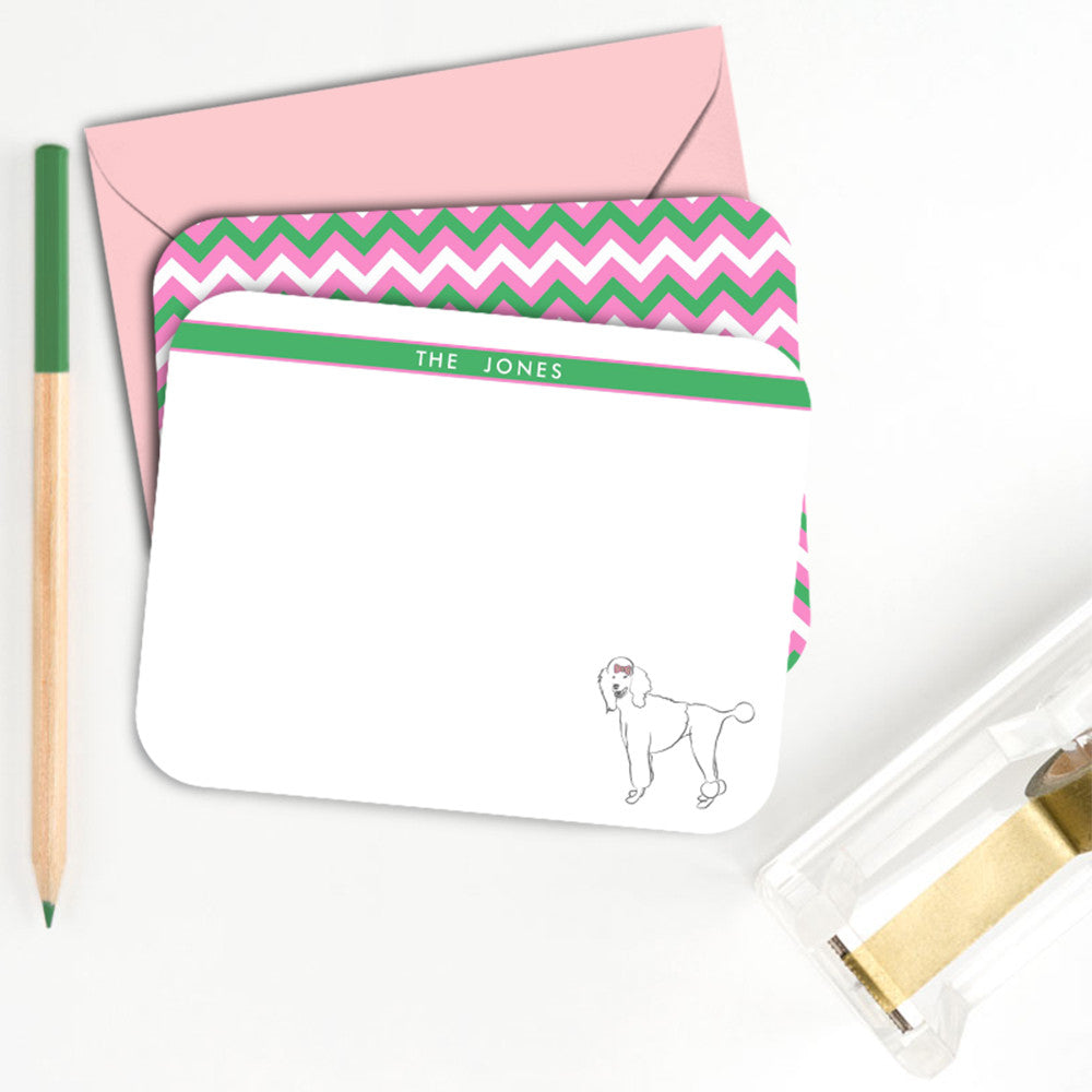 Poodle Personalized Notecard