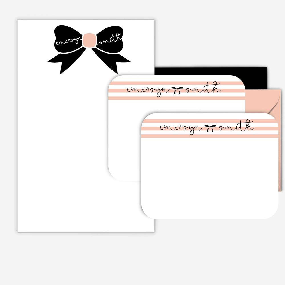 bow, note card, thoughtfilled