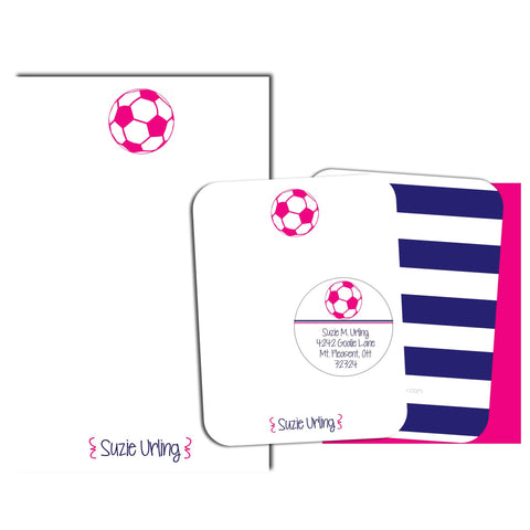 Soccer Personalized Stationery Gift